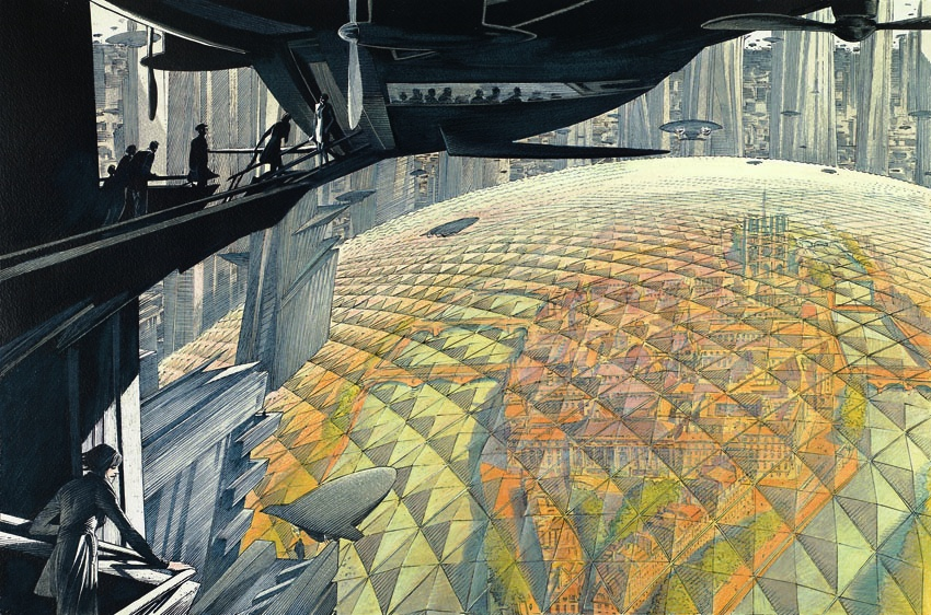 Paris sous cloche by François Schuiten