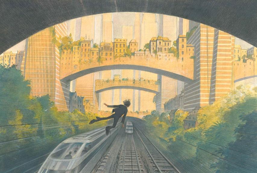 Les ponts habités de la Défense by François Schuiten