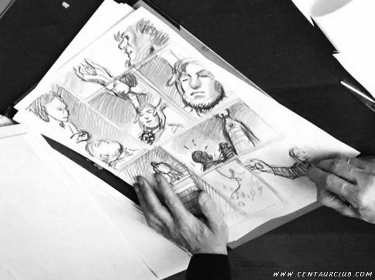 Blake mortimer par francois Schuiten détail d'une planche centaurclub