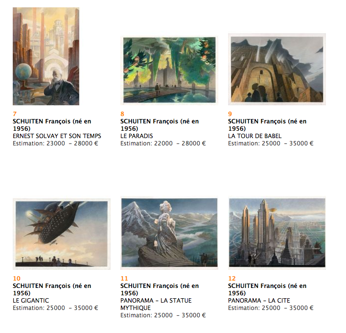 Second set Artwork by François Schuiten going for auction