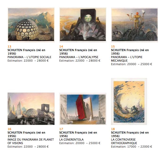 Third set Artwork by François Schuiten going for auction