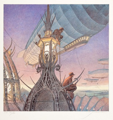 François Schuiten, Les Veilleurs, 1997, offset