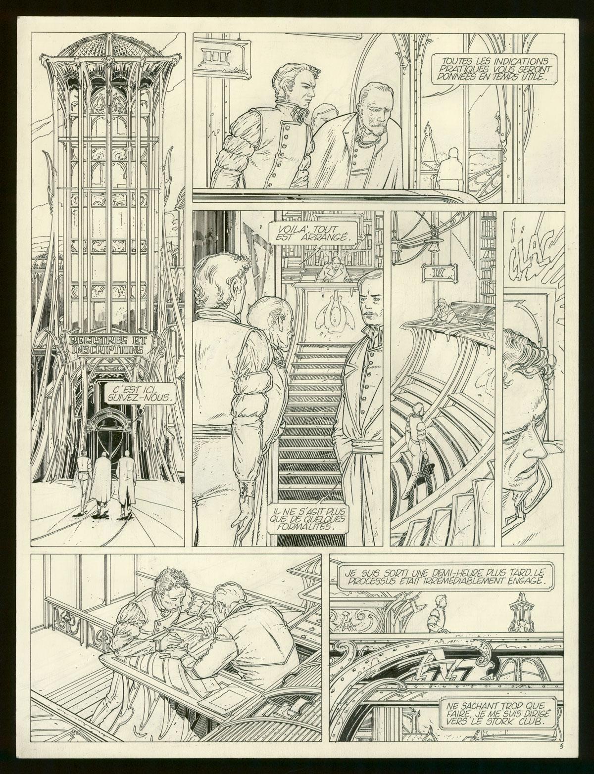 Peeters Benoît (scénario), Schuiten François (dessins), Les Murailles de Samaris, Casterman, 1983.