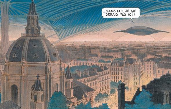 La chapelle de la Sorbonne sous un dôme. (Schuiten-Peeters/Casterman 2016)