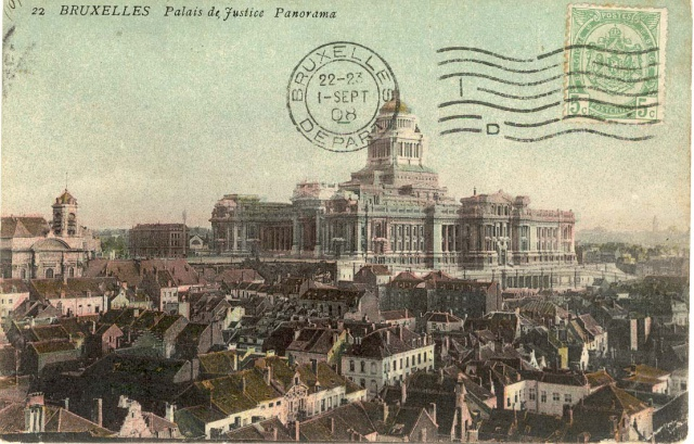 Postcard of the palace of Justice in Brussels