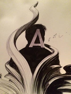 Drawing by François Schuiten for Alaxis Press during Comic-Con 2014