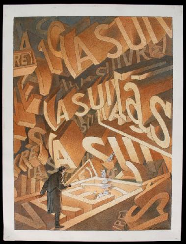 Sans titre, dessin réalisé pour une monographie consacrée à l'histoire du périodique (A Suivre)
