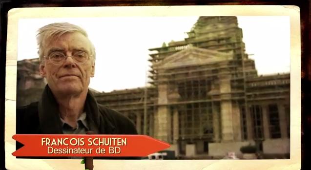François Schuiten in Coffe en tram
