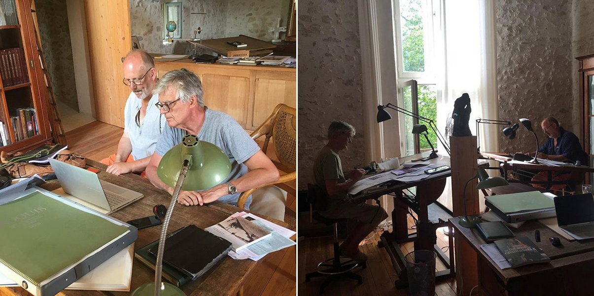 In July 2018, Schuiten & Sokal met in Southern France to do some visual tests with the main characters.