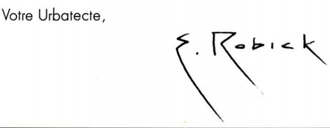 Signature of Eugen Robick