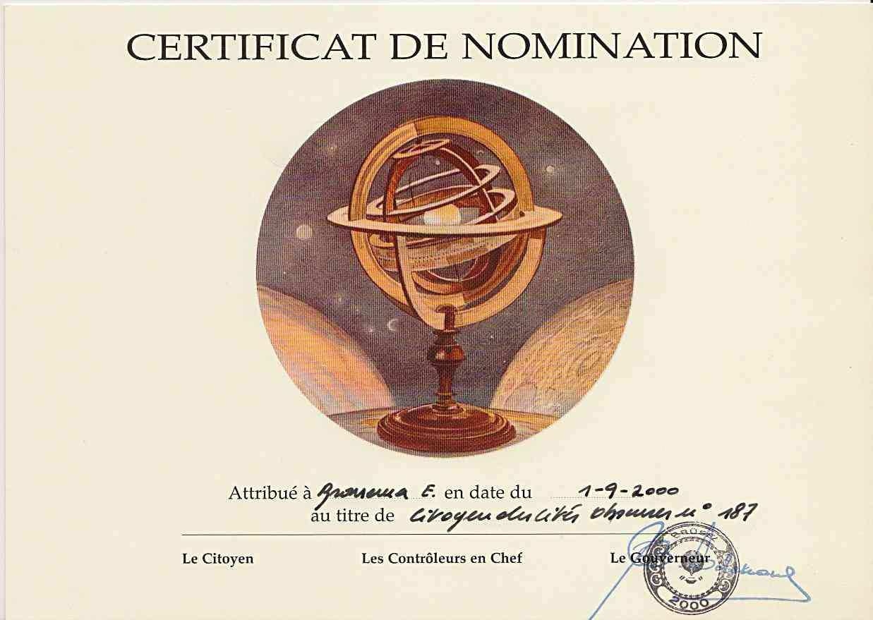 Certificate de nomination