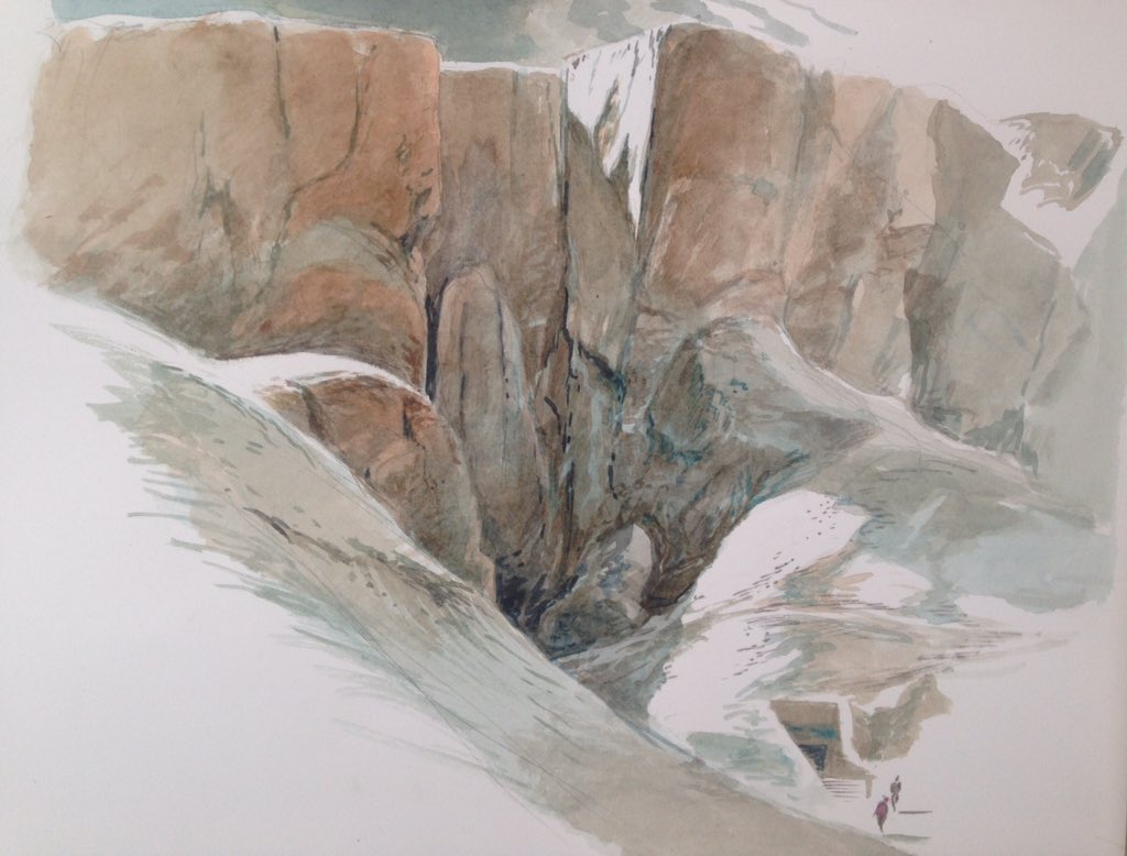 Water coloring by François Schuiten