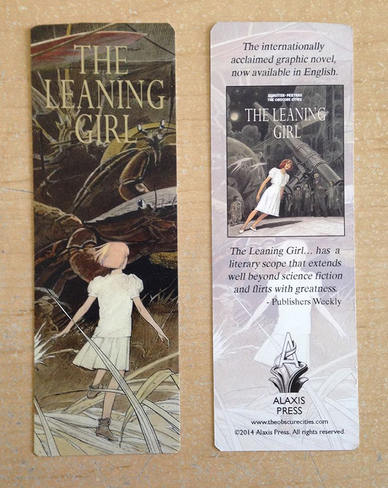 Limited edition bookmark for Comic Con