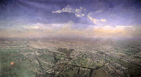 Victor Navlet, a general view of Paris taken from the Observatory