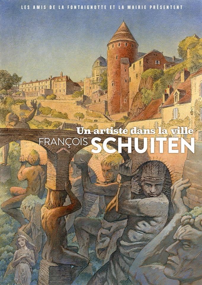 Un artiste dans la ville Semur-en-Auxois: François Schuiten
