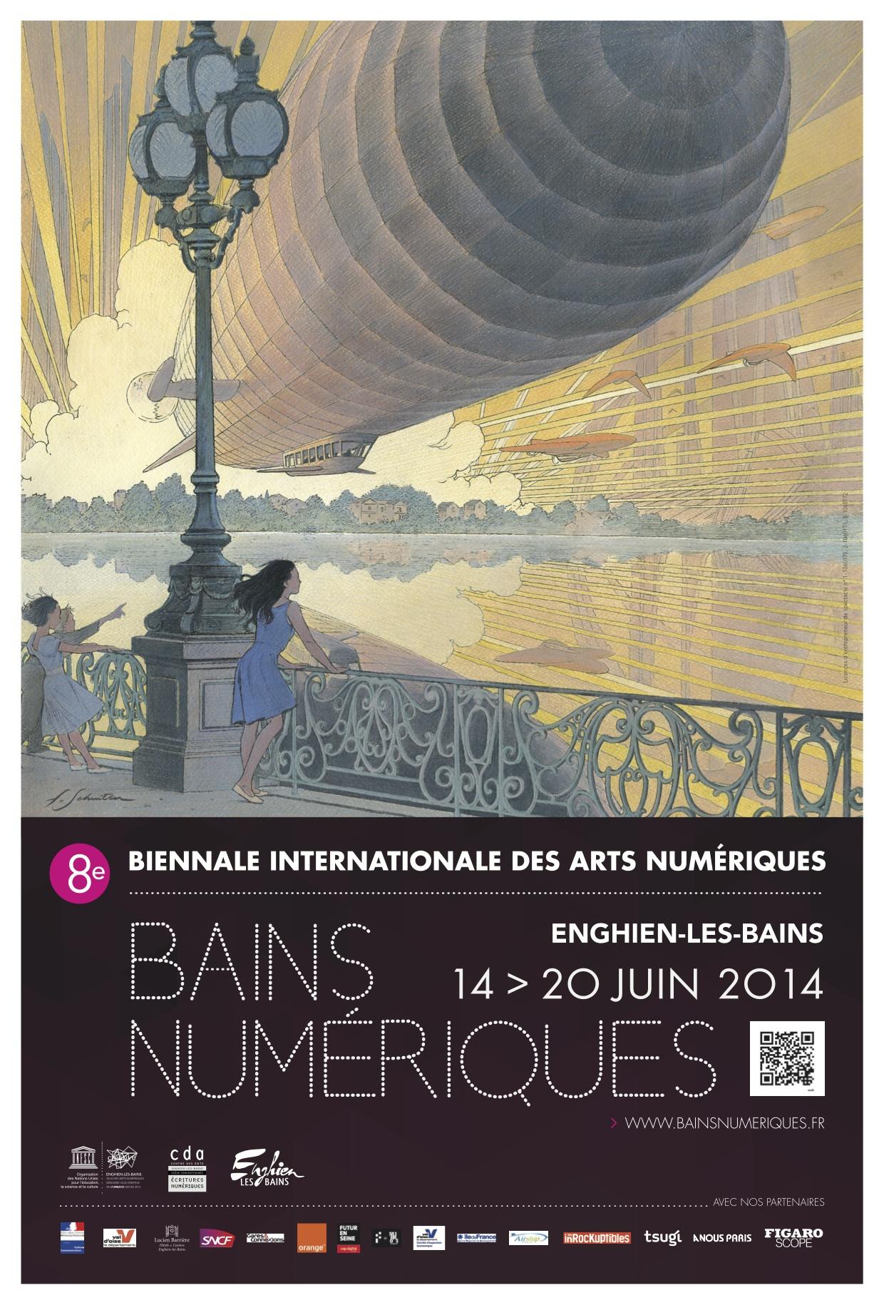 Announcement poster of Bains Numériques 2014