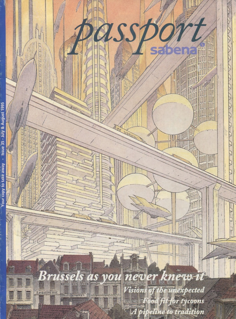 Cover Passport Sabena by François Schuiten