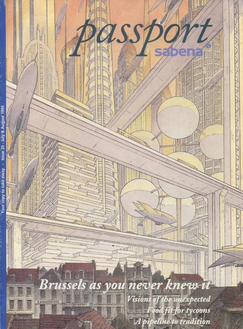 Cover Passport Sabena by François Schuiten