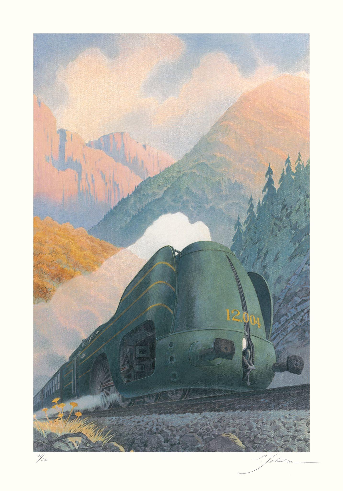 La Type 12 - En montagne by François Schuiten
