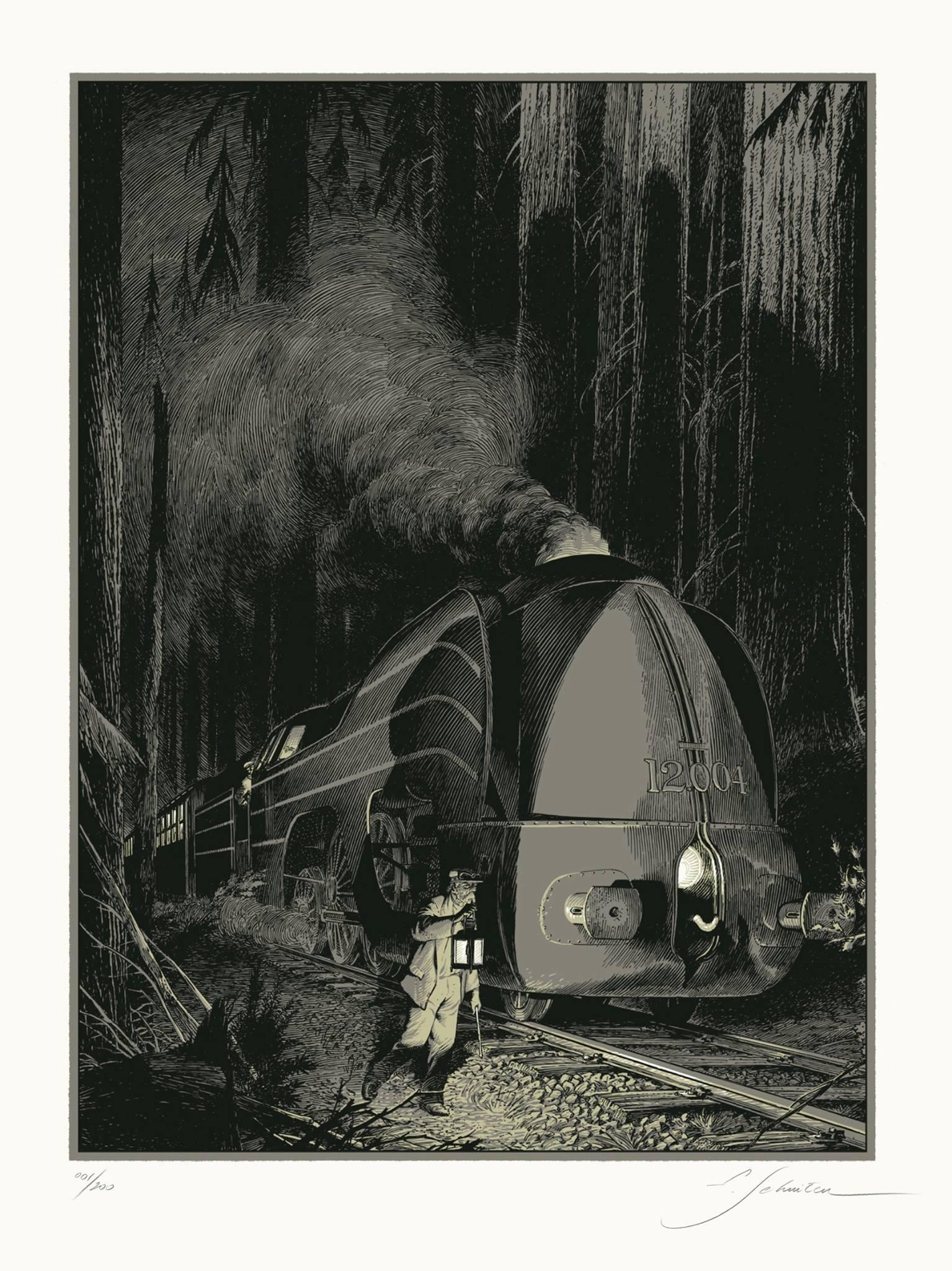 La Type 12 - Halte en forêt by François Schuiten