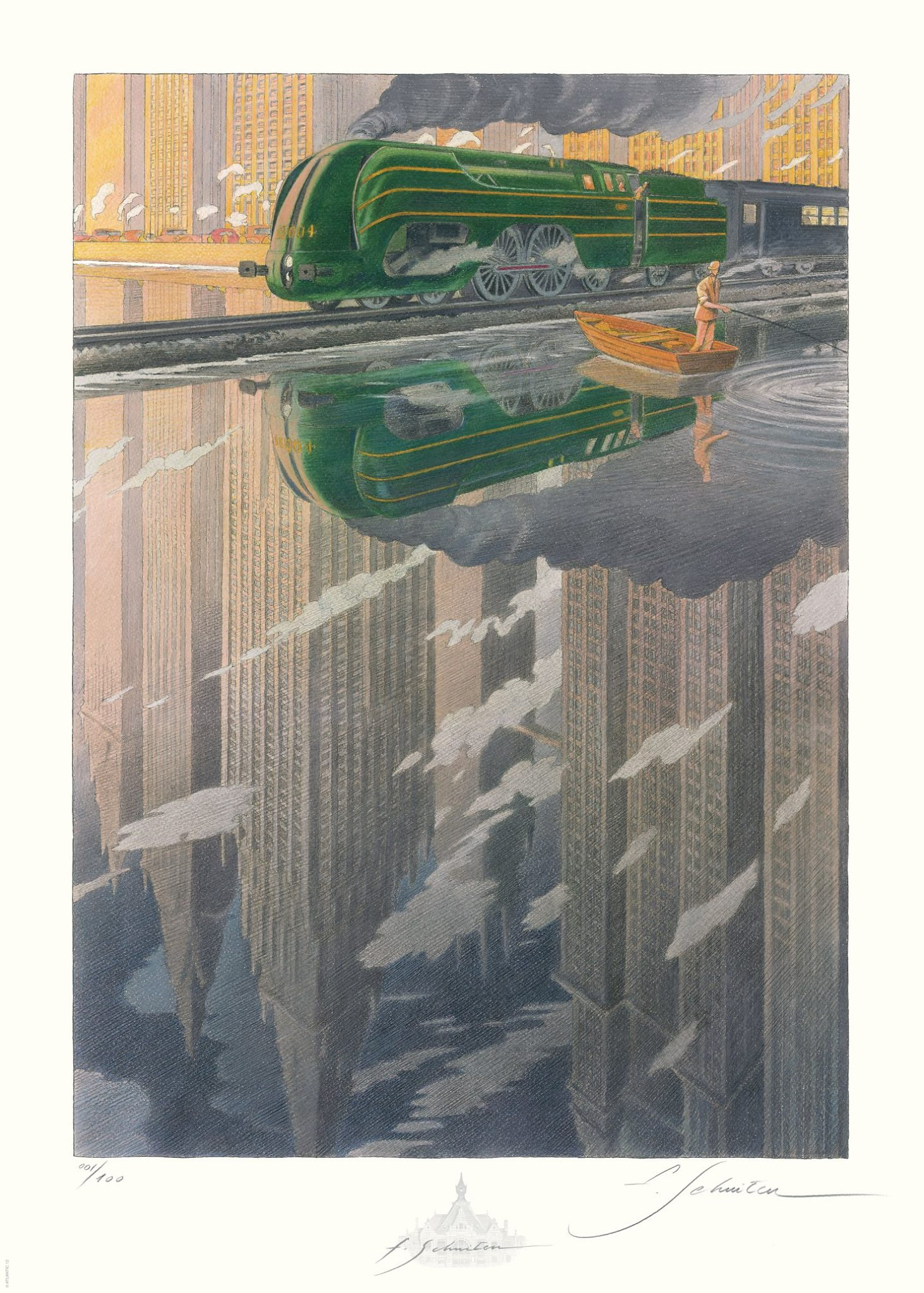 La Type 12 - Reflet by François Schuiten