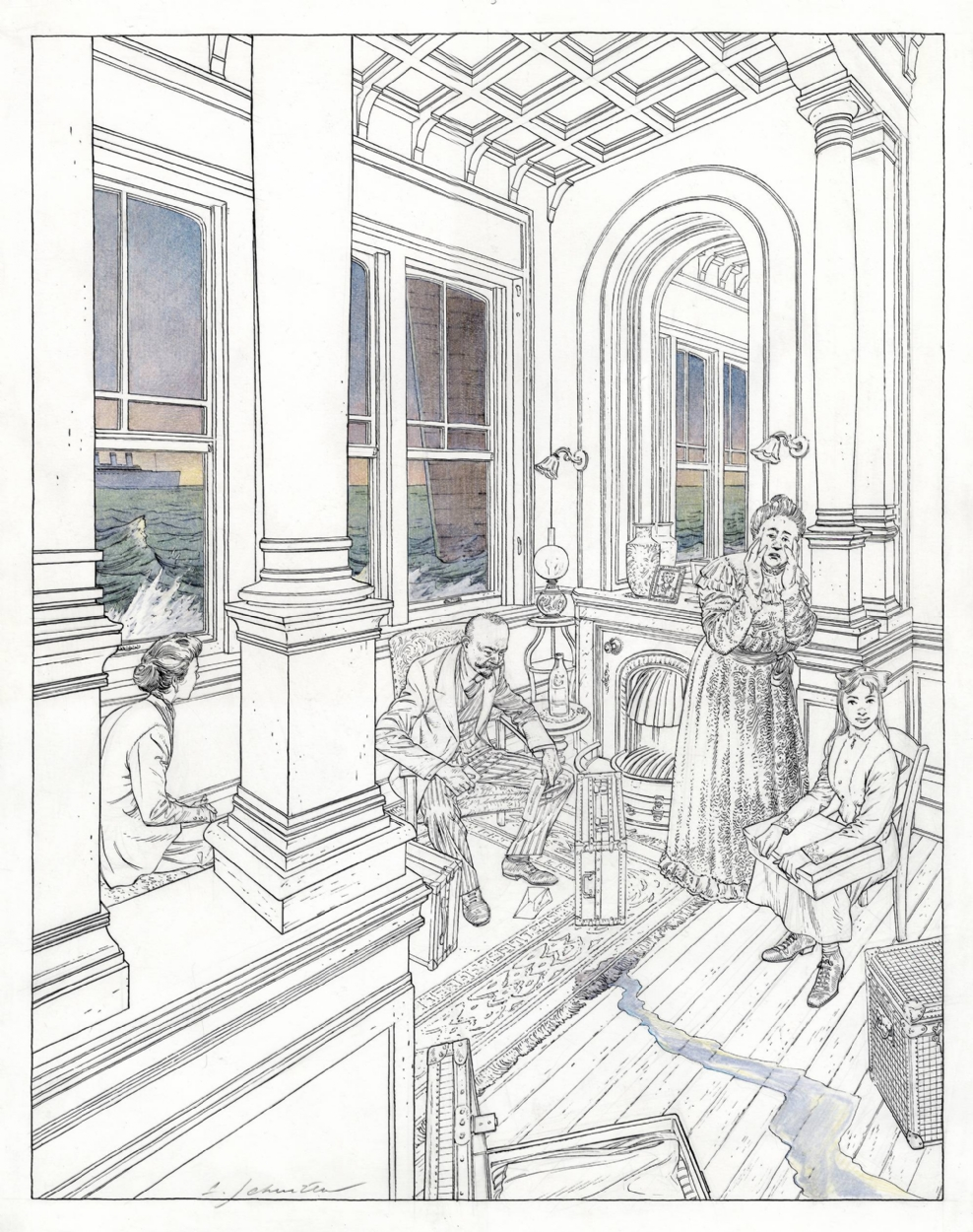 Maison Autrique (serigraphy)