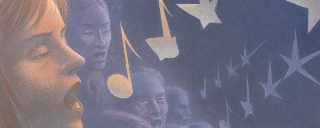 Detail of European Union Choir by François Schuiten