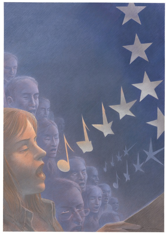 European Union Choir by François Schuiten
