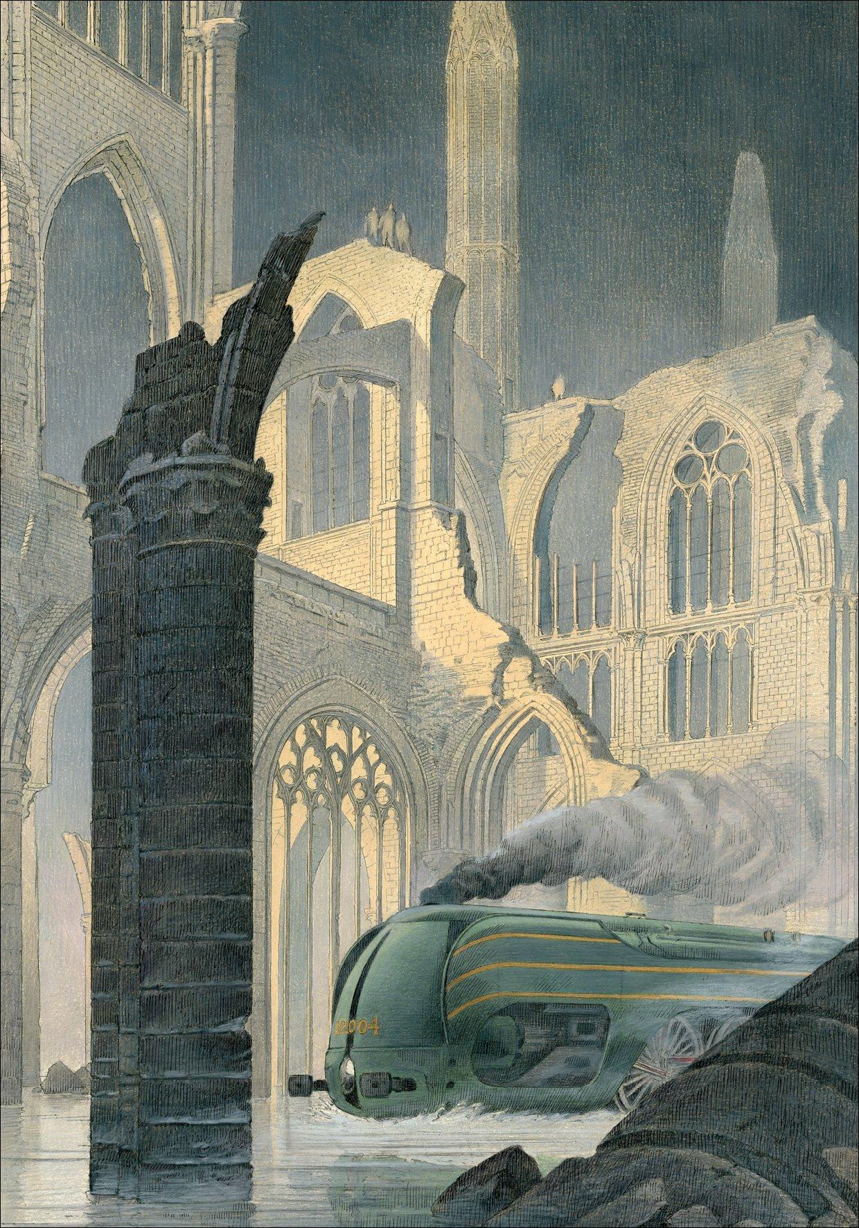 La Type 12 - Dans les ruines by François Schuiten