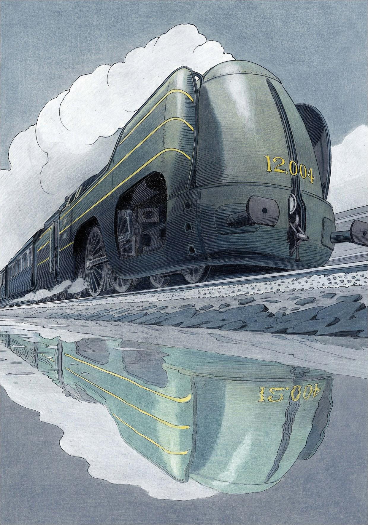 La Type 12 - De jour by François Schuiten
