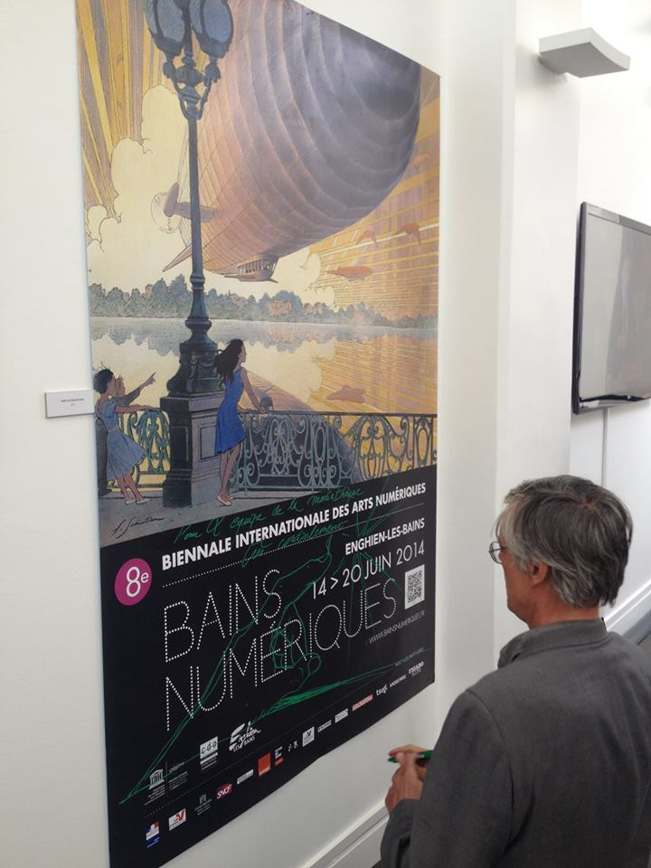 François Schuiten visited the festival in Enghien les Bains